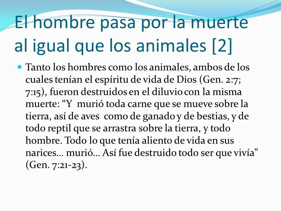 El hombre pasa por la muerte al igual que los animales [2]